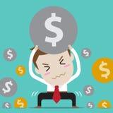 Businessman with crisis Stock Photos