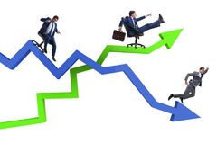 The businessman in crisis and recovery concept. Businessman in crisis and recovery concept Royalty Free Stock Photo