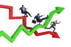 The businessman in crisis and recovery concept. Businessman in crisis and recovery concept Royalty Free Stock Photos