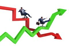 The businessman in crisis and recovery concept. Businessman in crisis and recovery concept Royalty Free Stock Images