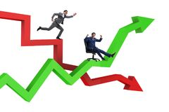 The businessman in crisis and recovery concept. Businessman in crisis and recovery concept Stock Image