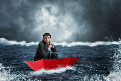 Businessman in crisis Royalty Free Stock Photography