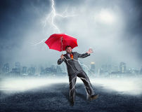 Businessman in crisis Stock Image