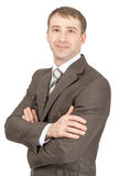 Businessman with crossed arms looking at camera Royalty Free Stock Image