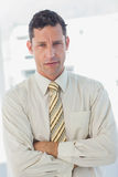 Businessman with crossed arms Stock Photography
