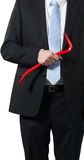 Businessman with a crowbar Royalty Free Stock Images