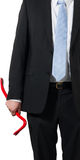 Businessman with a crowbar Royalty Free Stock Photos