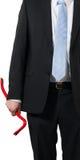 Businessman with a crowbar royalty free stock photos