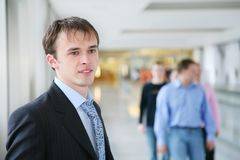 Businessman and crowd Stock Photography
