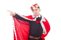Businessman with crown Stock Image