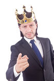 Businessman with crown Royalty Free Stock Image