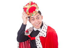 Businessman with crown Stock Photography