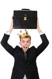 Businessman with crown Royalty Free Stock Photos