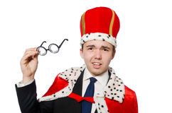 Businessman with crown Royalty Free Stock Images