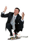 Businessman is crying Stock Image