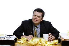 Businessman Crying Stock Photo