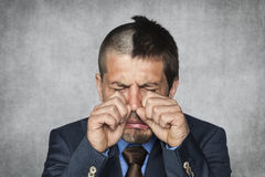 Businessman is crying Royalty Free Stock Photo
