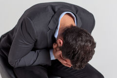 Businessman crying Royalty Free Stock Photos