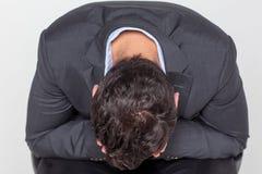 Businessman crying stock photo