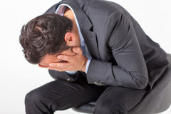 Businessman crying Royalty Free Stock Image