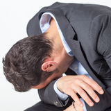 Businessman crying Royalty Free Stock Photography