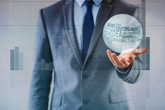The businessman with crystal ball in business concept Royalty Free Stock Photography