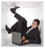 Businessman in the cube Royalty Free Stock Photography