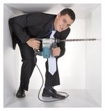 Businessman in the cube Stock Images