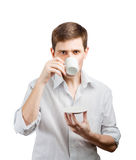 Businessman with a cup. Stock Photography