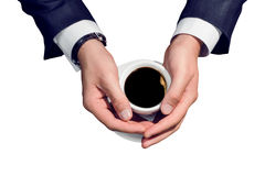 Businessman and cup of coffee Royalty Free Stock Photography
