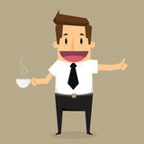 Businessman with cup of coffee Royalty Free Stock Photos