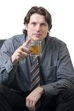 Businessman with a cup of tea Stock Photography