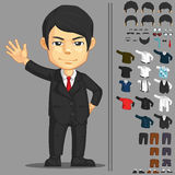 Businessman Customizable Character Royalty Free Stock Photo