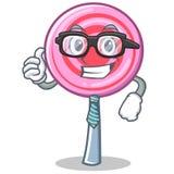 Businessman cute lollipop character cartoon. Vector illustration Royalty Free Stock Image