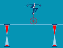 Businessman cycling on rope Royalty Free Stock Photos