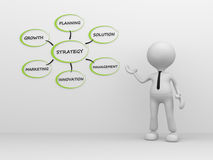 Businessman. 3d people - man, person pointer image of strategy Stock Photos