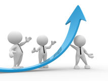 Businessman. 3d people - men, person  and a graph arrow. Business partners Stock Photo