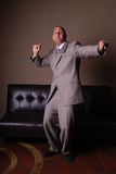 Businessman dancing. Royalty Free Stock Photo