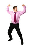Businessman dancing for joy Stock Photography