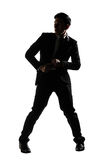 Businessman dancing Stock Photos
