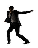 Businessman dancing Stock Photo