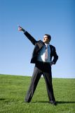 Businessman in dark suit royalty free stock image