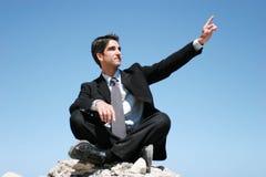 Businessman in dark suit Royalty Free Stock Photos
