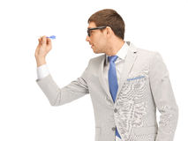 Businessman with dart Royalty Free Stock Photography