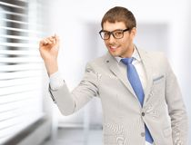 Businessman with dart Stock Image