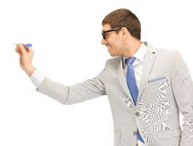 Businessman with dart Stock Photography