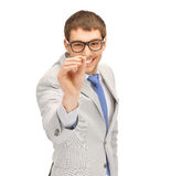 Businessman with dart Stock Images