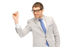 Businessman with dart Royalty Free Stock Images