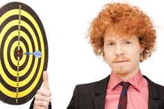 Businessman with dart and target Royalty Free Stock Photos