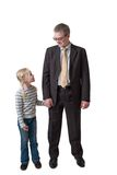 Businessman with daughter Royalty Free Stock Photography